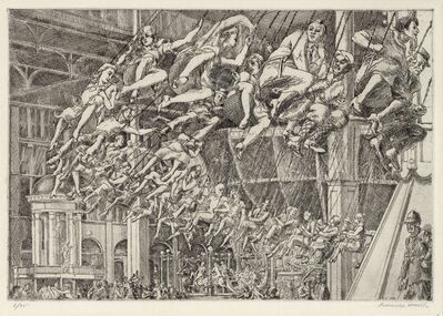 Reginald Marsh, 'Steeplechase Swings.', 1935