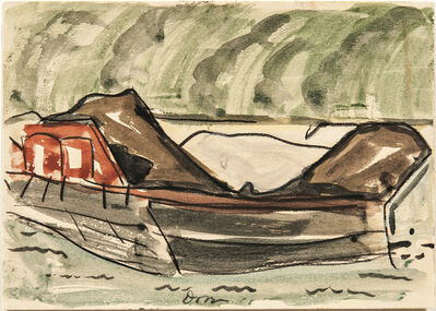 Arthur Garfield Dove, 'Red Barge II', 1932