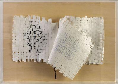 Mirello Bentivoglio, 'Libro etimologico: Text-Textile', 1988