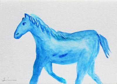 Nobuhiro Shimura, 'Pony (blue)', 2020