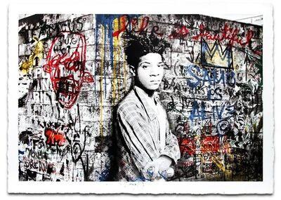 Mr. Brainwash, 'Homage to Jean Michel Basquiat (hand finished)', 2016