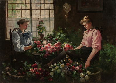 Abbott Fuller Graves, 'Arranging the Flowers'