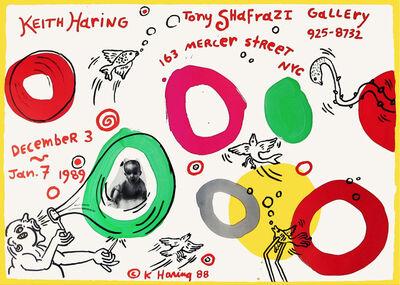 Keith Haring, 'Artistsposter Tony Shafrazi Gallery, New York, USA', 1988