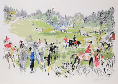 LeRoy Neiman, 'Hunter Trials', ca. 1972