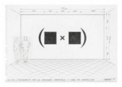 Horacio Zabala, 'Anteproyecto para dos monocromos, paréntesis y signo de multiplicar', 2014