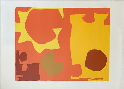 Patrick Heron, 'Six in Light Orange with Red in Yellow (April 1970) ', 1970