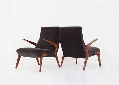 Osvaldo Borsani, 'Pair of P71 lounge chairs by Osvaldo Borsani', 1950-1959