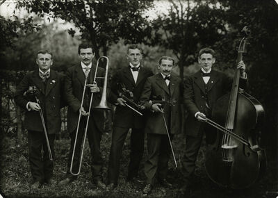 August Sander, 'Farmers Brass Band', 1913