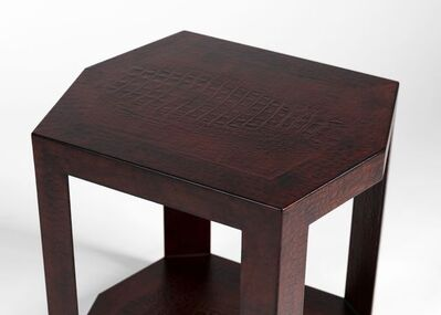 Karl Springer, 'Pair of Hexagonal Side Tables', ca. United States-circa 1988