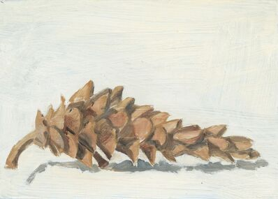 Lois Dodd, 'Hackmatack Seed Cone', 2018