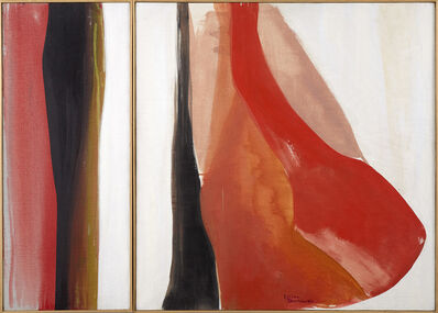 Lilian Thomas Burwell, 'Red Forms (diptych)', 1970