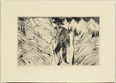 Ernst Ludwig Kirchner, 'Der Wanderer', 1922