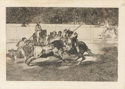 Francisco de Goya, 'El Esforzado Rendon Picando un Toro, de Cuya Suerte Murio en la Plaza de Madrid', 1816
