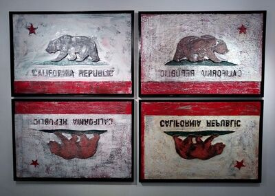 "Michael Beresheim, '""Sovereignty; Bear Flag Revolt""', 2017"