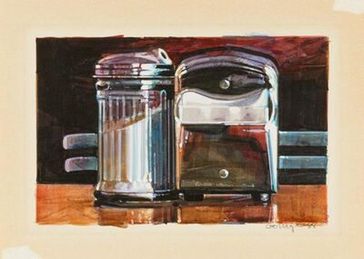 Ralph Goings, 'Sugar and napkin box', 1988