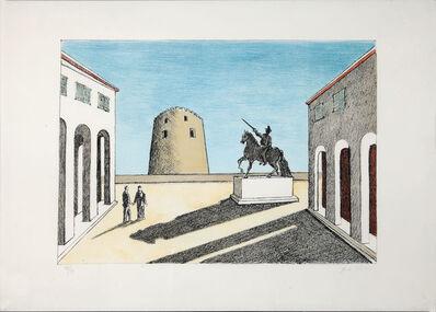 Giorgio de Chirico, 'Piazza d'Italia con statua equestre ', 1973