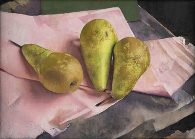 Diarmuid Kelley, 'Conference Pears Against a Pink Napkin', 2018