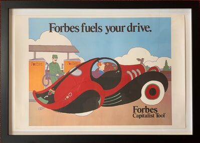"""Seymour Chwast, '""""Forbes Fuels Your Drive"""", an advertising poster created in 1985 for Forbes Magazine', published by Mohawk Paper in 1987 as part of Seymour Chwast's """"Graphic Collection"""" portfolio"""