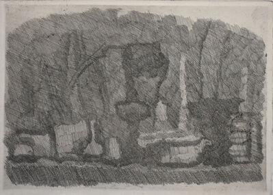 Giorgio Morandi, 'Still Life with Vases, Bottles etc. on a Table   Natura Morta di Vasi, Bottiglie ecc. su un Tavolo', 1929