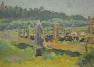 Abram Moseevich Kharkovsky, 'Cattle farm', 1958