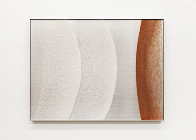 Mimi Jung, '081517 White and Rust Ellipses', 2020