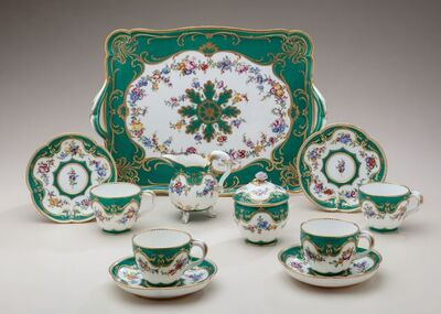 Sèvres Porcelain Manufactory, 'Green Ground Déjeuner', 1759