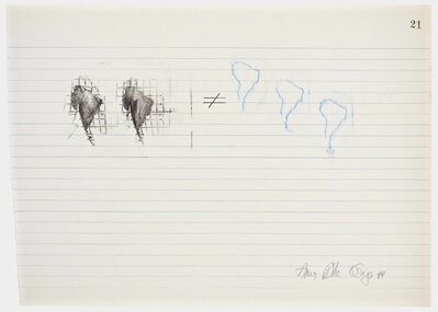 Anna Bella Geiger, 'Equations No 21', 1978