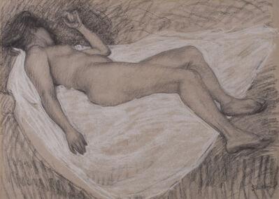 Théophile Alexandre Steinlen, 'Femme nue de dos allongee', c. 1920