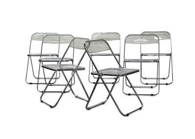 Gian Carlo Piretti, 'A set of seven Plia folding chairs'