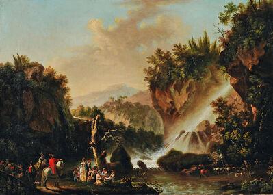 Continental School, 'Figures at the Cascades at Tivoli'