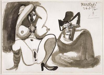 Pablo Picasso, 'Nu et homme assis', 1972