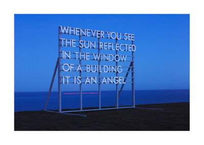 Robert Montgomery, 'Whenever You See The Sun', 2012
