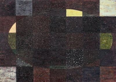 Pat Adams, 'Each to Each, Geometric Abstract Mixed Media on Wood', Late 20th Century