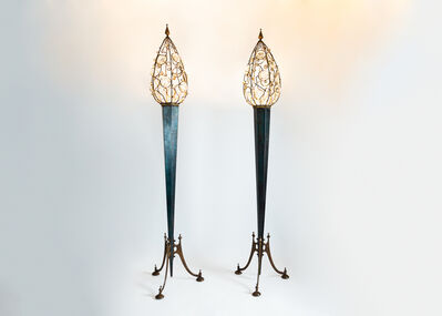 "Mark Brazier-Jones, '""Dew"" Pair of Floor Lamps', 1990"