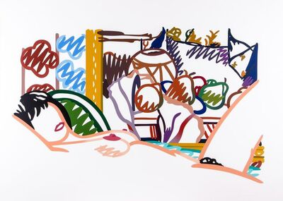 Tom Wesselmann, 'Monica Nude with Cezanne', 1994