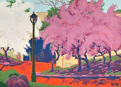 Kyohei Inukai (1913-1985), 'Spring- Riverside Park', ca. 1965-75