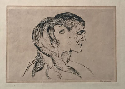 Edvard Munch, 'Hode ved hode (Head by Head)', 1905