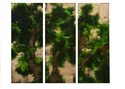 Per Fronth, 'Wood Study triptych', 2008