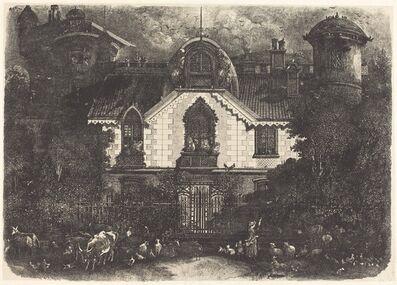 Rodolphe Bresdin, 'The Haunted House', 1871