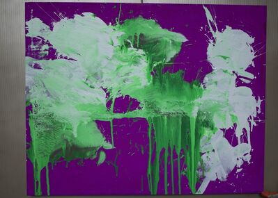Ushio Shinohara, 'White and Green on Violet', 2018