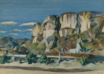 Edward Hopper, 'Cliffs Near Mitla, Oaxaca', 1953