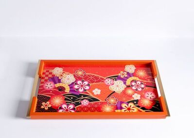 Zelouf + Bell, 'Kiku, Lacquered Serving Tray', Ireland-2020