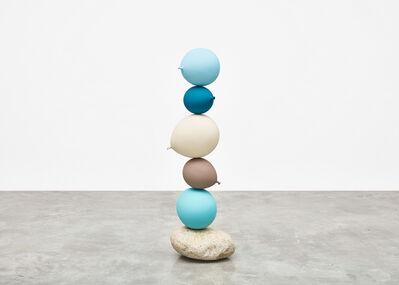 Gimhongsok, 'Untitled (Short People)  Light Blue, Blue, Beige, Grey, Light Blue', 2018