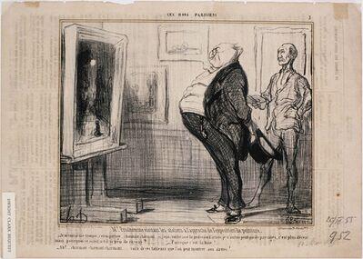 Honoré Daumier, 'Ces Bons Parisiens: M. Prudhomme visitant les ateliers…', 1855