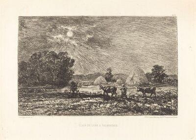Charles François Daubigny, 'Clair de lune à Valmondois (Moonlight at Valmondois)'