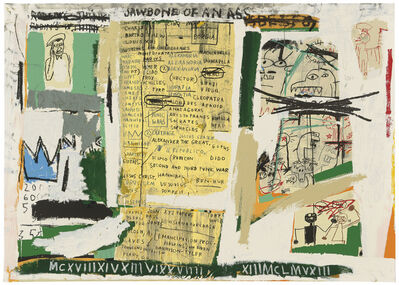 Jean-Michel Basquiat, 'Jawbone Of An Ass', 1982