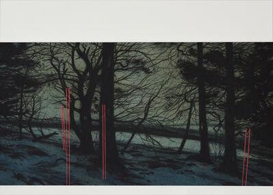 Andrew Mackenzie, 'Edge of the Woods (Snow Poles)', 2019