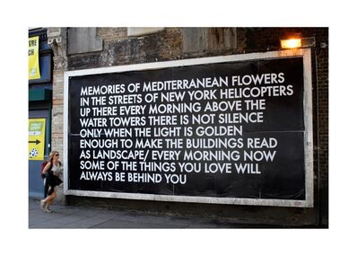 Robert Montgomery, 'When We Are Sleeping (Flag)'