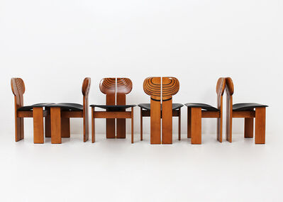 Afra and Tobia Scarpa, 'Set of six Africa Chairs - Artona Series by Afra & Tobia Scarpa ', 1975