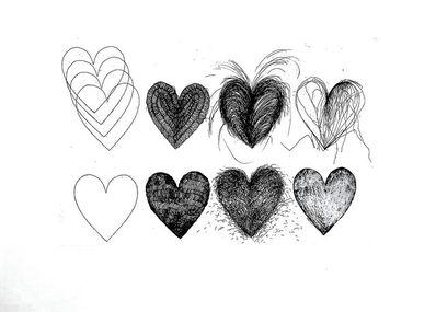 Jim Dine, 'Eleven hearts', ca. 1980